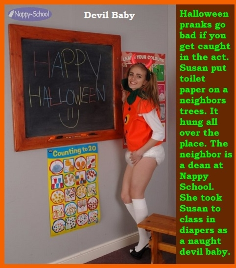 Halloween 1 - Two cappies with a seasonal Halloween theme., Mommy,Sissy,Dominate,Diaper, Adult Babies,Feminization,Identity Swap,Sissy Fashion