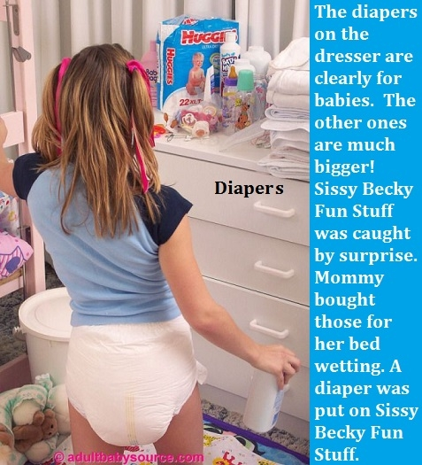 New Year 2018 - 1 - I have captioned many of my Sissy Kiss friends already having fun in the new year., Sissy,Sissybaby,Diaper,Panty, Adult Babies,Feminization,Identity Swap,Sissy Fashion