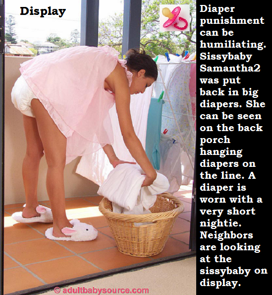 Diaper Dominated - Sissybabysamantha2 is being diaper dominated and she loves this., Diaper,Nappy,Sissybaby,Dominate, Adult Babies,Feminization,Identity Swap,Sissy Fashion