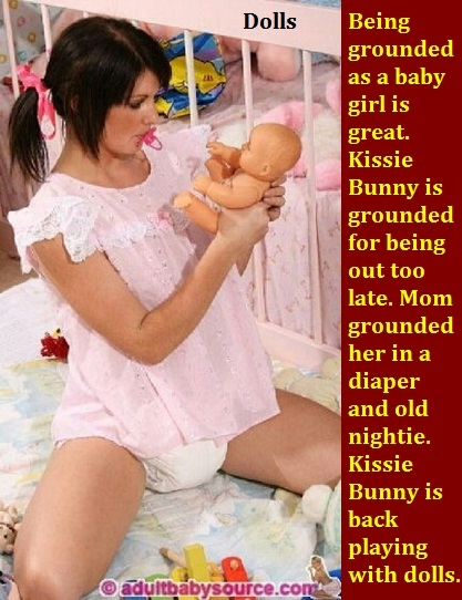 New Year 2018 - 6 - I have captioned many of my Sissy Kiss friends already having fun in the new year., Sissy,Sissybaby,Diaper,Panty, Adult Babies,Feminization,Identity Swap,Sissy Fashion