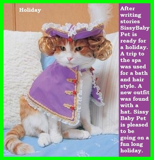 Holiday - A caption for SissyBabyPet. Bonus nurse caption added for Shamrock., Kitty Furry,Holiday,Nurse,Sissybaby, Adult Babies,Feminization,Identity Swap,Sissy Fashion