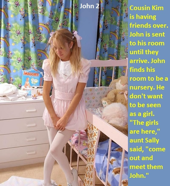 John 1 - 2 - John is caught in panties and dressed up by his aunt., Panties,Sissy,Dominate, Feminization,Identity Swap,Sissy Fashion