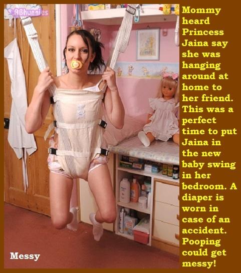 Adults nappy punishment