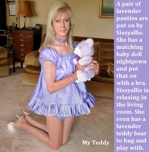 Spank 1 - 2 - I made a short spanking story and added a bonus cappie for Sissyallie., Panty,Bra,Nightgown,Sissy, Feminization,Identity Swap,Sissy Fashion,Spankings