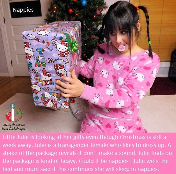Diapering - Diapering someone may change their behavior for the better. Bonus Christmas cappies added., Nappies,Dominate,Schoolgirl,Christmas, Adult Babies,Feminization,Identity Swap,Sissy Fashion