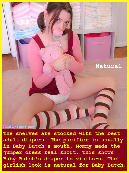 AB TIME - Sissy Kiss editor Baby Butch has captioned 15 adult babies having fun and being feminine., Diaper,Dominate,Mommy,Sissybaby, Adult Babies,Feminization,Humiliation,Diaper Lovers