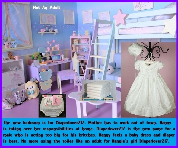 Not Grown - You may think you are grown up and find out otherwise., Baby Dress,Diaper,Dominate,Mommy,, Adult Babies,Feminization,Identity Swap,Sissy Fashion