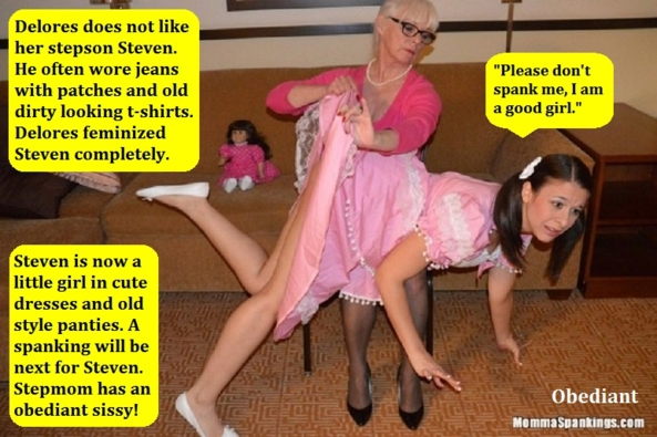 CD Spank - A few captions about being spanked while cross dressed., Sissy,Dominate,Punish,Cross Dress, Spankings,Identity Swap,Sissy Fashion,Feminization