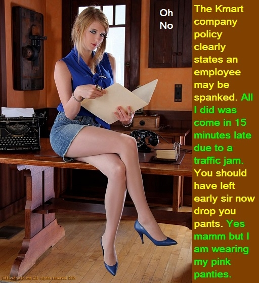 Fem Spank - Have you been feminized and spanked. OR Have you been spanked while feminized., Teacher,Girlfriend,Boss,Crossdress, Feminization,Identity Swap,Sissy Fashion,Spankings