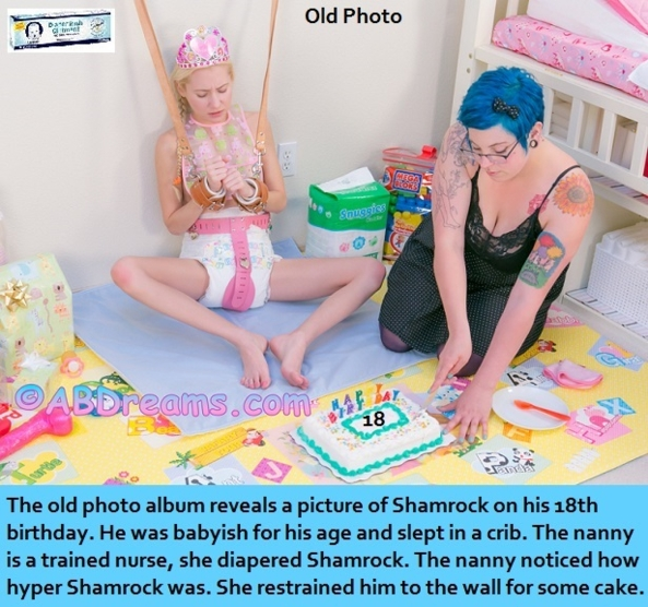 Birthday Baby - Celebrating Shamrock's 70th birthday with some nurse captions., Nurse,Diaper,Bandage,Enema, Adult Babies,Feminization,Identity Swap,Sissy Fashion