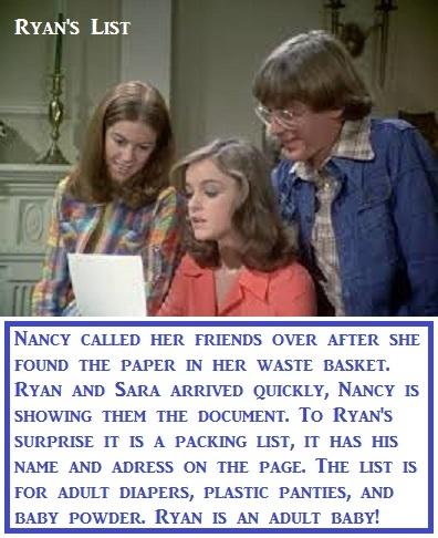 Mini Series - Nancy Drew - Here is Baby Butch's version of the old show Nancy Drew. Should have been AB Nancy Drew or Sissy Nancy Drew. , Panties,Diaper,Sissy,Dominate, Adult Babies,Diaper Lovers,Identity Swap,Sissy Fashion
