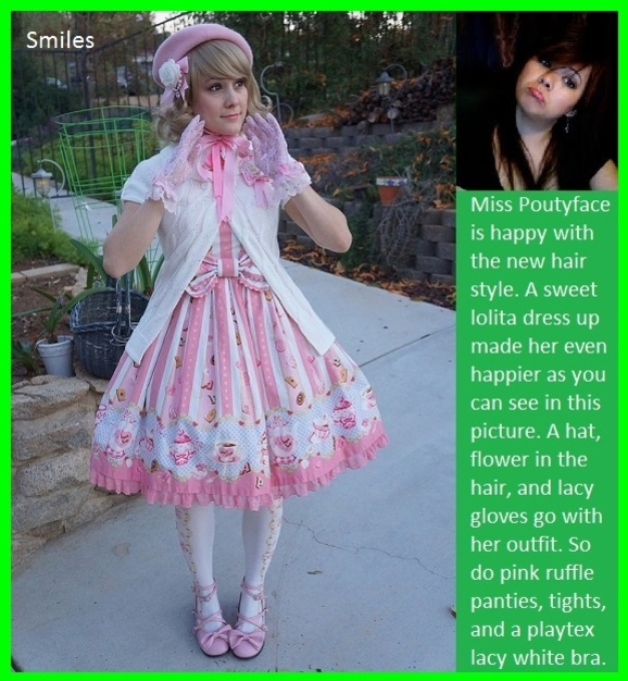 Fun Time - It seems like Sissy Kiss members are always having a fun time., Repunzel,Cousin,Leashed,Lolita,Slips, Adult Babies,Feminization,Identity Swap,Sissy Fashion