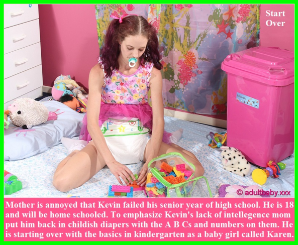 Adult Baby Contest - Two adult baby captions with a poll for voting., Humiliation,Diaper,Chastity,Dominate, Adult Babies,Feminization,Identity Swap,Sissy Fashion