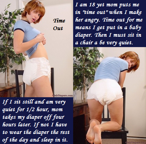 Various Themes 2 - I have posted 10 cappies made with various themes and stories. , Domination,Cross Dress,Diaper, Adult Babies,Feminization,Humiliation,Diaper Lovers