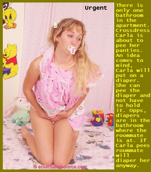 Stay Diapered - Once a diaper is on you should stay diapered until someone changes you., Force,Dominate,Diaper,Sissybaby, Adult Babies,Feminization,Identity Swap,Sissy Fashion