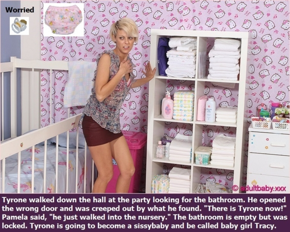 Sissy and Baby - New Baby Butch captions about being a sissy and a baby. Three of each with a poll., Sissy,Baby,Panty,Diaper, Adult Babies,Feminization,Identity Swap,Sissy Fashion
