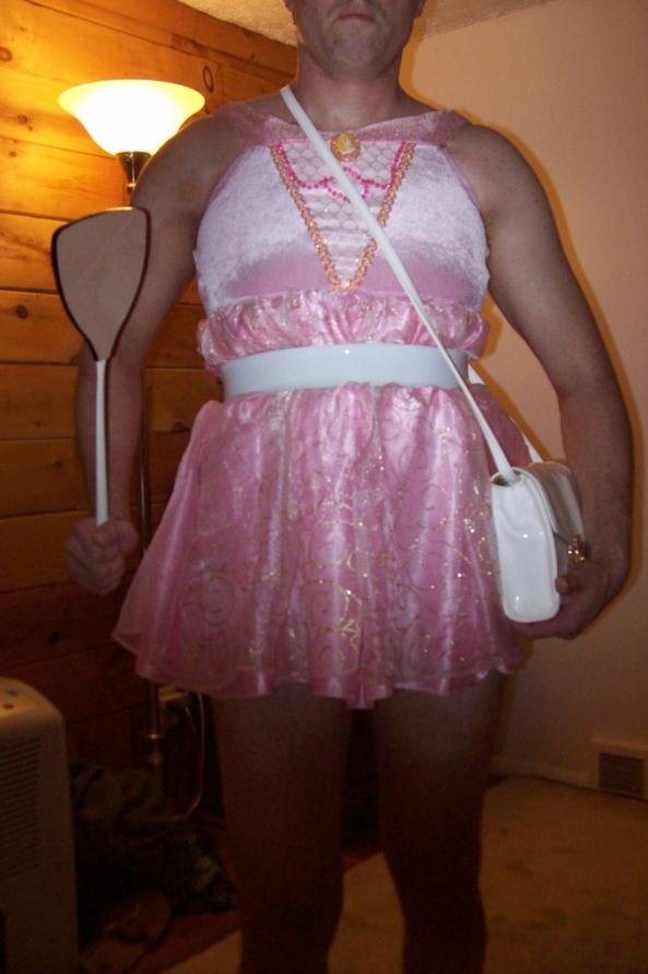 Disney Princess with Spanker, disney princess,princess,spank,spanking,spanker,sissy,costume
