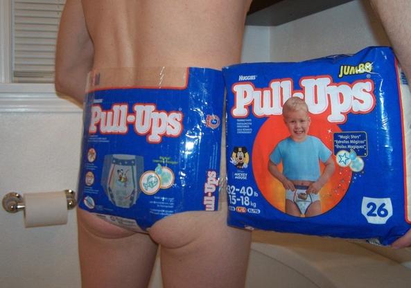Pull Ups Diaper, pull ups,diaper,diapers,diapered,punishment,spanking,spank,plastic