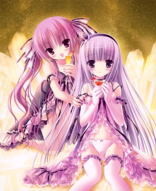 2 Cute lil Girls With Yummy Drinks