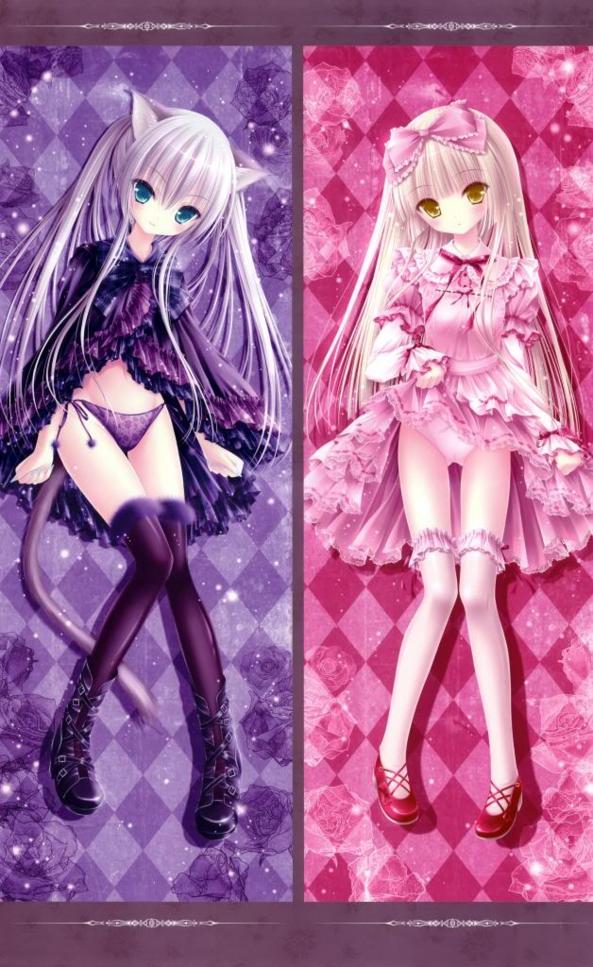 2 Cute lil Girls One A Neko Kitty Girl