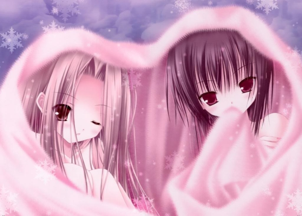 2 Very cute lil Girls Cuddling & Keeping Warm