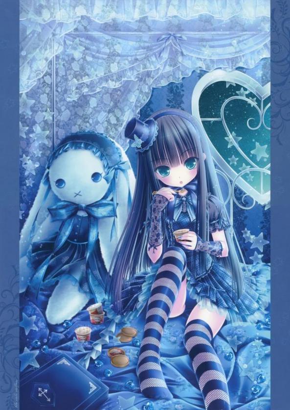 Cute lil Girl Eating Yummy Ice Cream & Stuffed Bunny