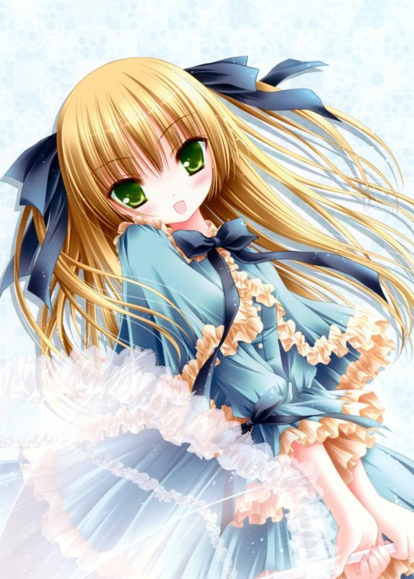 Cute lil Girl In A Pretty Dress Holding An Umbrella