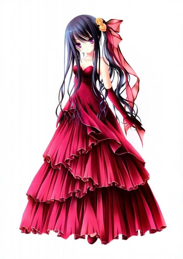 Cute lil Girl In A Very Pretty Red Dress