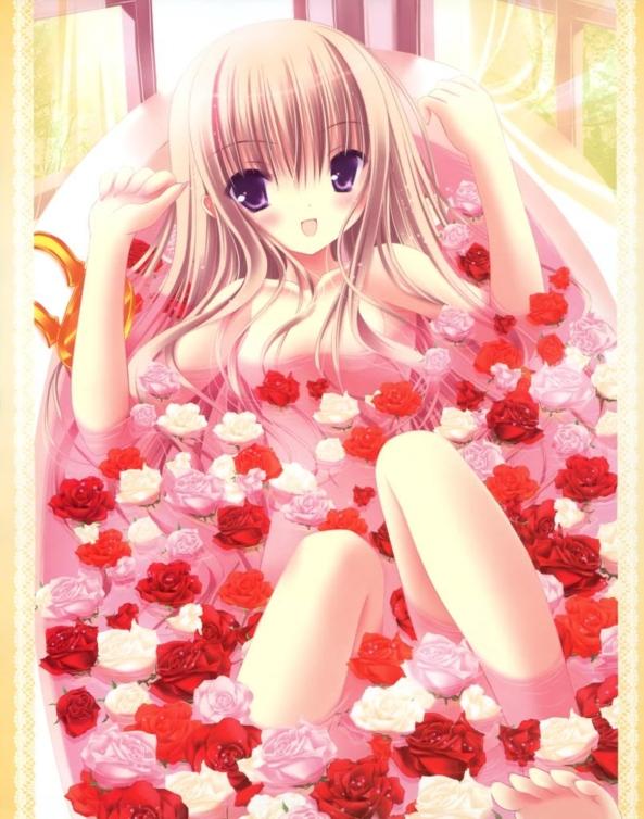 Very Cute lil Girl Taking A Relaxing Bath