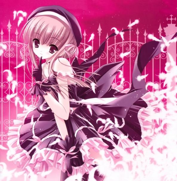 Cute lil Girl Wearing A Pretty Dress & Flowers