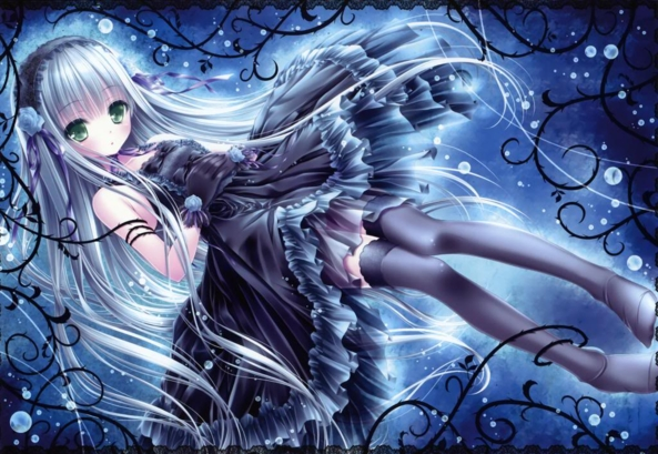 Cute lil Girl Wearing A Cute, & Pretty Black Dress