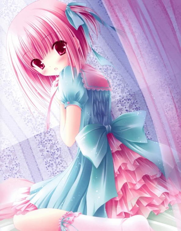 Very Cute And Shy lil Girl Wearing A Very Pretty Dress