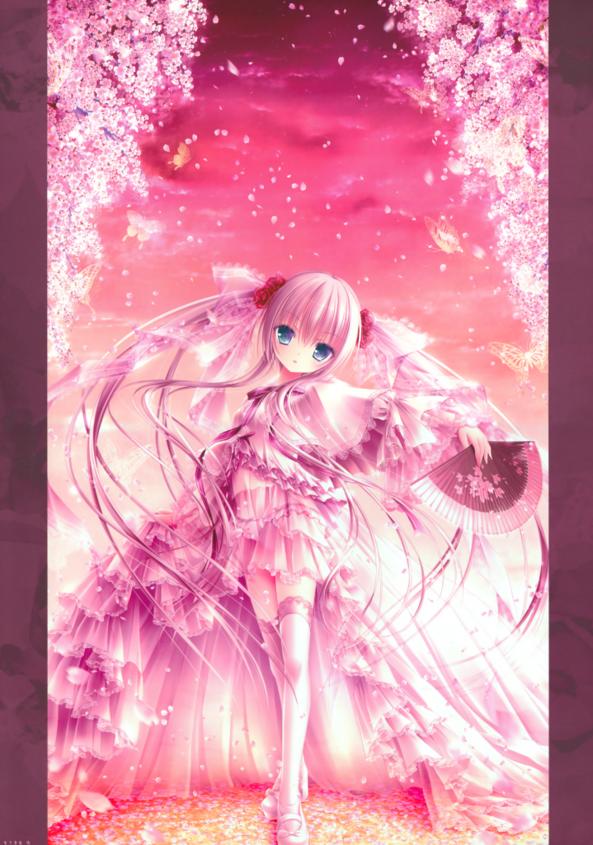 Very Cute lil Girl Holding A Fan
