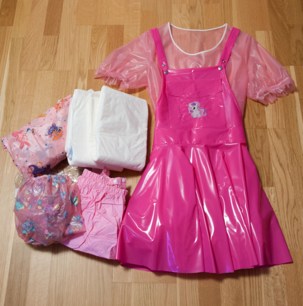 new outfit for sissy baby girl - I saw this outfit and thought wow! I'd love to have this to wear :), pvc,plastic,diaper,mummy,daddy, Dominating Mistress Or Master,Adult Babies,Feminization,Humiliation