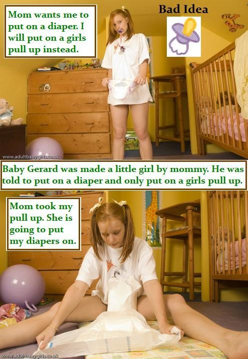 My caption Spotlight 6 By Baby Butch, Baby,Girly,Adultbaby,Diaper,Pullups,Changing