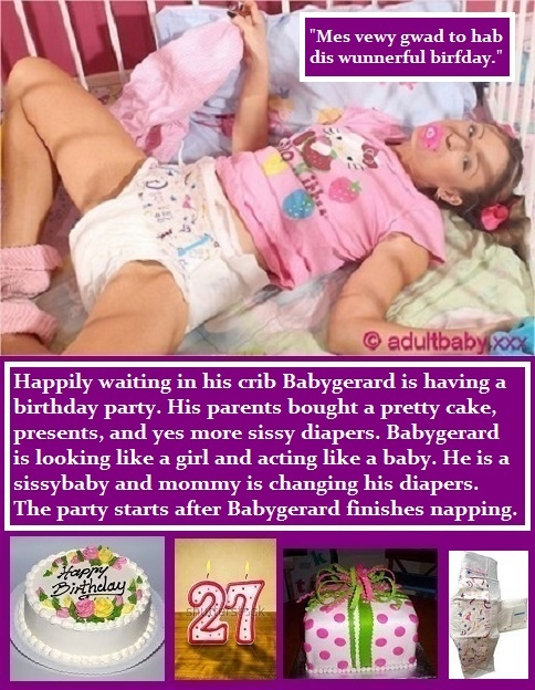 Happy Birthday to me., BabyGirl,Diapers,Birthday,Happy,Me,Girly,Nap