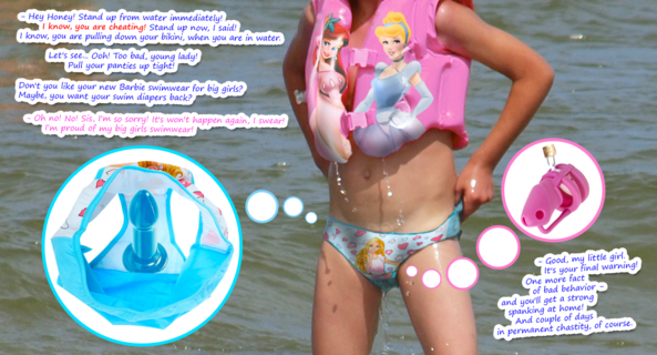 My New Work! - Fresh artwork from me! Summer is back!, Sissy,swimsuit,pooltoys,Barbie,Disney Princess,bikini,swimming,dildo,chastity cage, Adult Babies,Sex Toys,Masterbation,Body Suits,Humiliation,Sissy Fashion,Spankings,Dolled Up,Bondage,Bad Boy To Good Girl