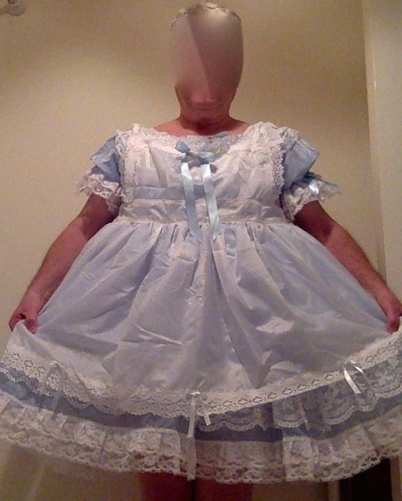 Truly wonderland!, sissy dress,frilly,blue,adult little girl