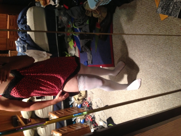 My new night gown and leggings, Nightgown. Leggings