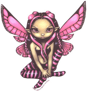 Pink fairy, Pink,fairy,chibi