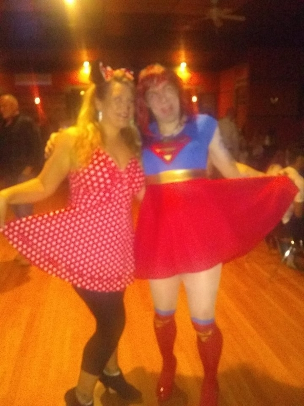 Super  Girl and Minnie Mouse  - my halloween party went well, girls minnie , Feminization,Str8 Orientation,Medium Change,Fairytale