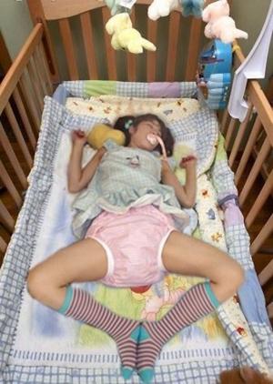 baby girl surprise - brief statement, crib, Adult Babies