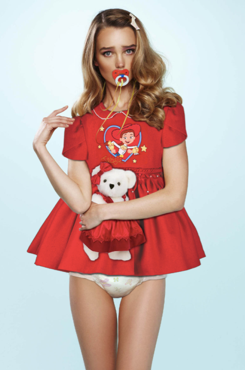 Cute Outfit Choice , Sissy fashion diaper binky, Adult Babies,Feminization