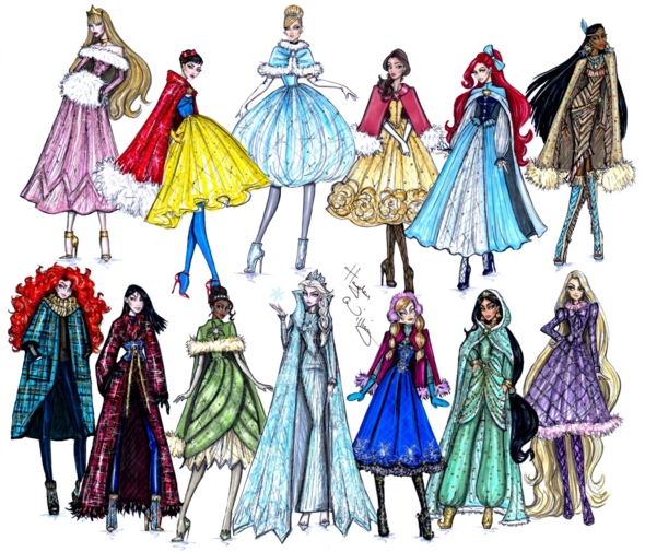 Winter Disney outfits, disney,princess dresses