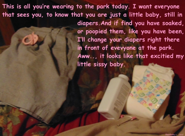 Sometimes it's so hard, when you get excited...  - A trip to the park for a sissy baby., Baby,Sissy Baby,Diapers,Pacifiers,Adult Baby, Dominating Mistress Or Master,Diaper Lovers,Adult Babies