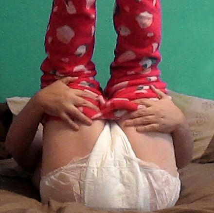 Wanting to be spanked..., Pajamas,Diapers,Spanking