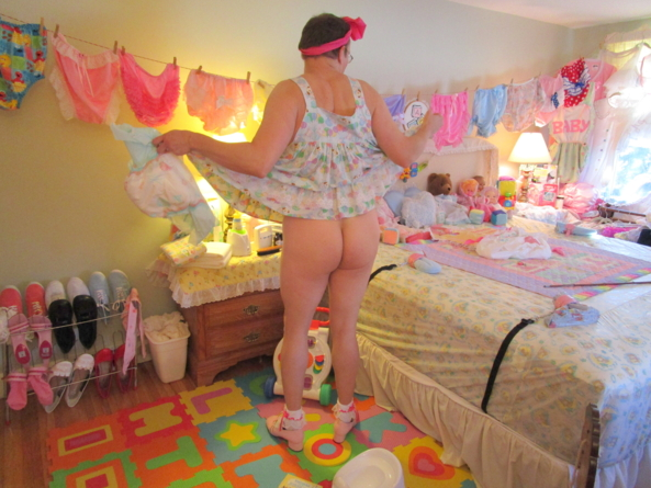 Getting 'Cheeky' in the Punishment Nursery (JPEG) - Some people say that I could stand to benefit from a good paddling., Mattie,Fanny Matty,fmatty, Adult Babies,Feminization,Sissy Fashion,Dolled Up