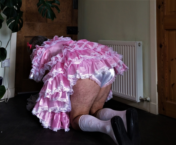 Frillies on show - A little glimpse of my panties, Sissy,Panties,Frillies,Pink, Fairytale,Sissy Fashion