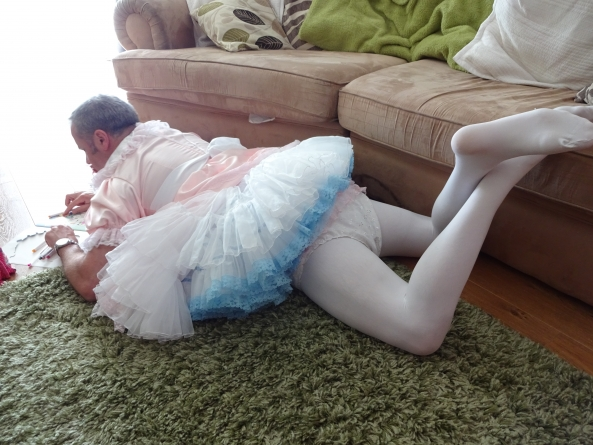 Me at play - At a ABDL nursery, Sissy baby,abdl,diapered,petticoated,petticoat, Adult Babies,Diaper Lovers,Feminization,Sissy Fashion