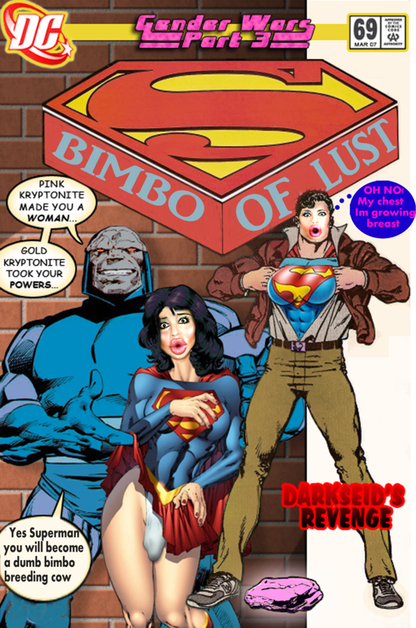 Darksied defeats Superman, Sissification,forced feminization